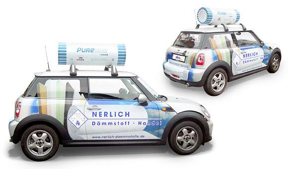 Nerlich Photovoltaik Fahrzeugbeschriftung