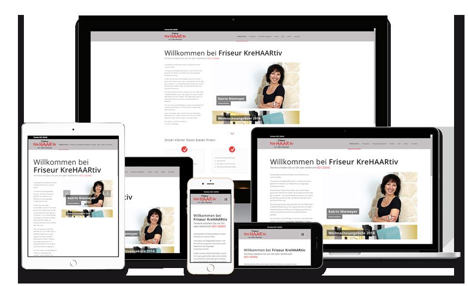 Friseur KreHAARtiv Website Design