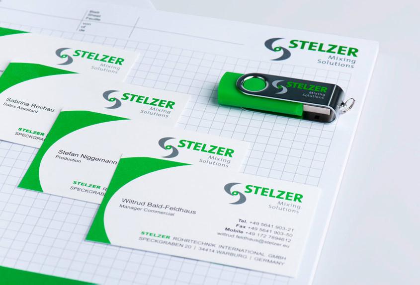 STELZER Geschäftsausstattung-personaliziert USB Stick Visitenkarten