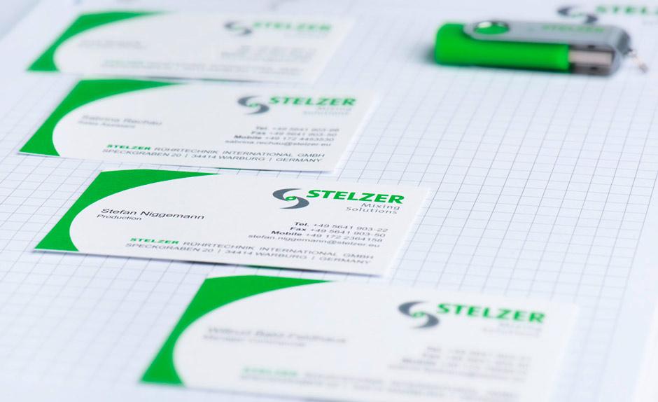 Stelzer Geschäftsausstattung Personaliziert Visitenkarten