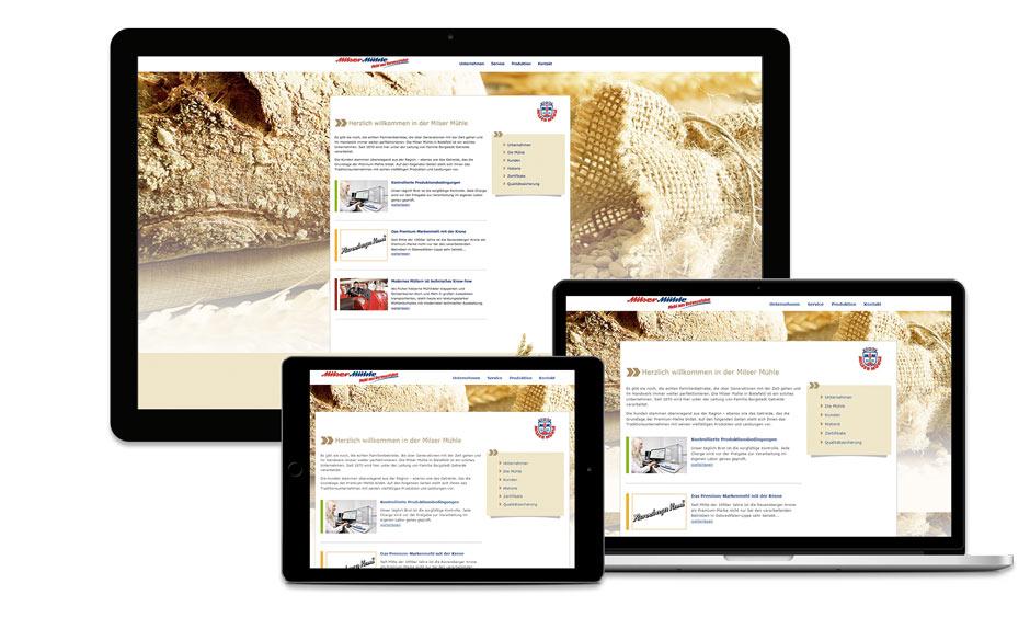 Milser Mühle Bielefeld Website