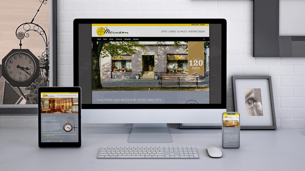 Relaunch mit Responsive Webdesign für Optik-Mormann Bielefeld