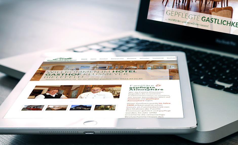 Referenz Responsive Webdesign für Hotel Gasthof Klusmeyer Bielefeld
