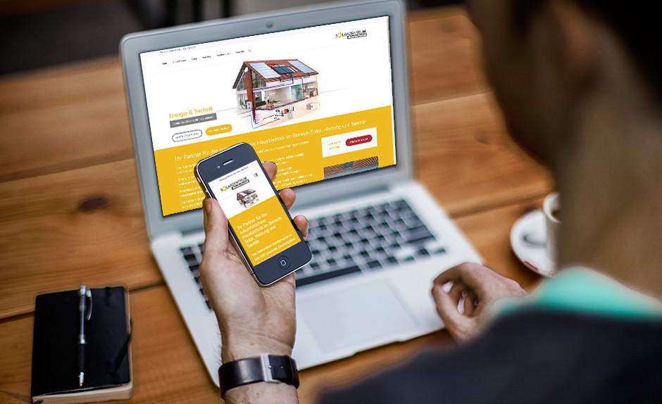 Referenz Responsive Webdesign für Solarzentrum Bielefeld